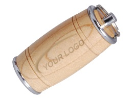 wood005 Barrel USB Flash Drive