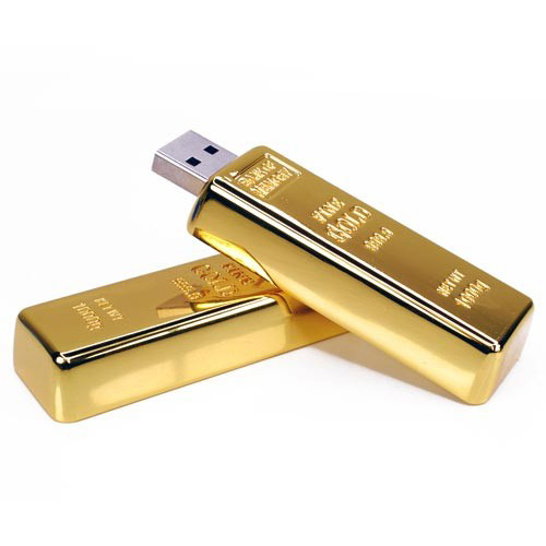 metal012 Gold Bar USB Drive